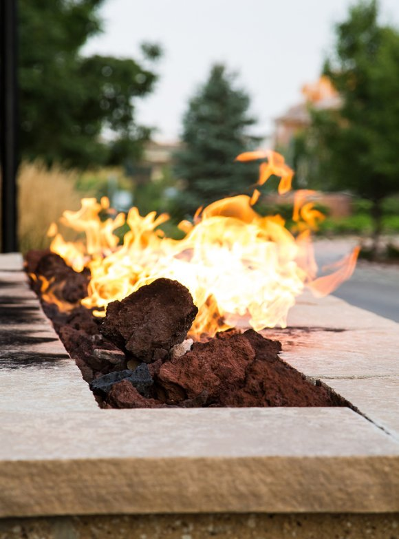 Outdoor Fire Features by Deep Blue Pools and Spas